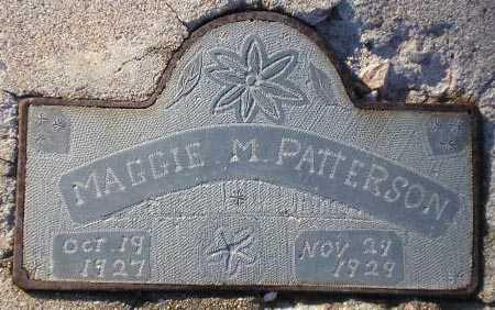 PATTERSON, MAGGIE M. - Maricopa County, Arizona | MAGGIE M. PATTERSON - Arizona Gravestone Photos