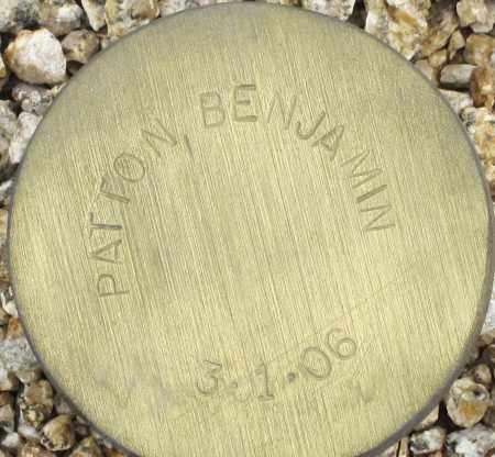 PATTON, BENJAMIN - Maricopa County, Arizona | BENJAMIN PATTON - Arizona Gravestone Photos