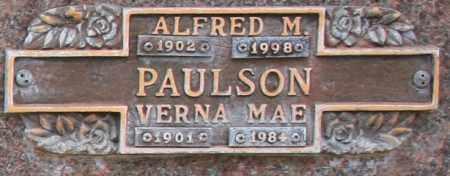 PAULSON, ALFRED M - Maricopa County, Arizona | ALFRED M PAULSON - Arizona Gravestone Photos