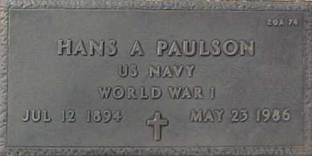 PAULSON, HANS A. - Maricopa County, Arizona | HANS A. PAULSON - Arizona Gravestone Photos