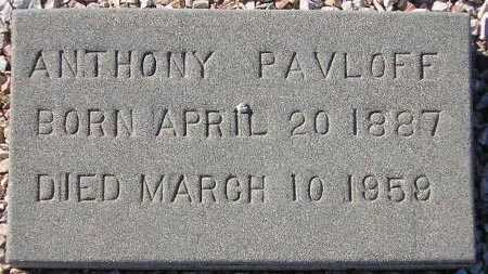 PAVLOFF, ANTHONY - Maricopa County, Arizona   ANTHONY PAVLOFF - Arizona Gravestone Photos