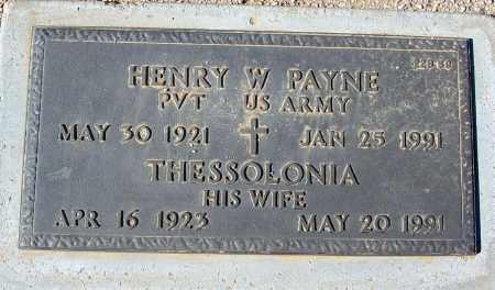 PAYNE, HENRY W. - Maricopa County, Arizona | HENRY W. PAYNE - Arizona Gravestone Photos