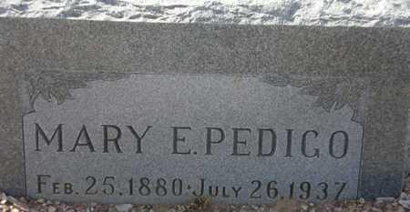 PEDIGO, MARY E. - Maricopa County, Arizona | MARY E. PEDIGO - Arizona Gravestone Photos