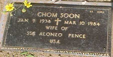 PENCE, CHOM SOON - Maricopa County, Arizona | CHOM SOON PENCE - Arizona Gravestone Photos