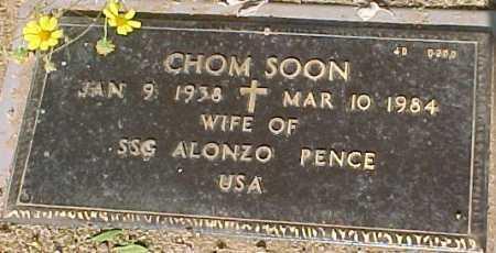 PENCE, CHOM SOON - Maricopa County, Arizona | CHOM SOON PENCE - Arizona Gravestone Photos