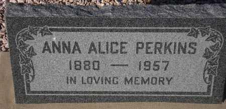 PERKINS, ANNA ALICE - Maricopa County, Arizona | ANNA ALICE PERKINS - Arizona Gravestone Photos