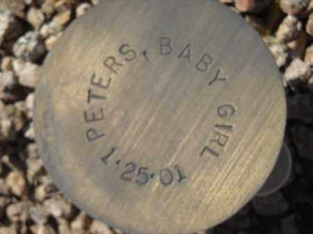 PETERS, BABY GIRL - Maricopa County, Arizona   BABY GIRL PETERS - Arizona Gravestone Photos