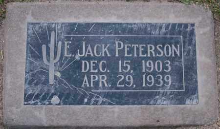 "PETERSON, ELMER BEAL ""JACK"" - Maricopa County, Arizona | ELMER BEAL ""JACK"" PETERSON - Arizona Gravestone Photos"
