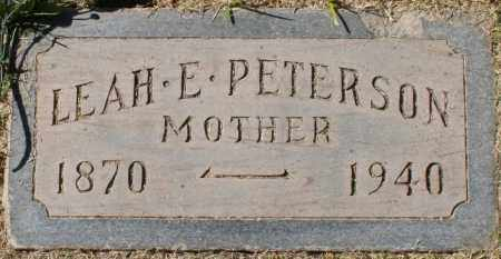 PETERSON, LEAH E - Maricopa County, Arizona | LEAH E PETERSON - Arizona Gravestone Photos