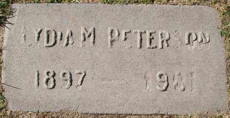 PETERSON, LYDIA M - Maricopa County, Arizona   LYDIA M PETERSON - Arizona Gravestone Photos