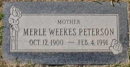 PETERSON, MERLE - Maricopa County, Arizona | MERLE PETERSON - Arizona Gravestone Photos
