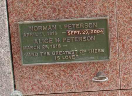 PETERSON, NORMAN I. - Maricopa County, Arizona | NORMAN I. PETERSON - Arizona Gravestone Photos