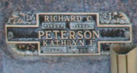 PETERSON, KATHRYN F - Maricopa County, Arizona | KATHRYN F PETERSON - Arizona Gravestone Photos