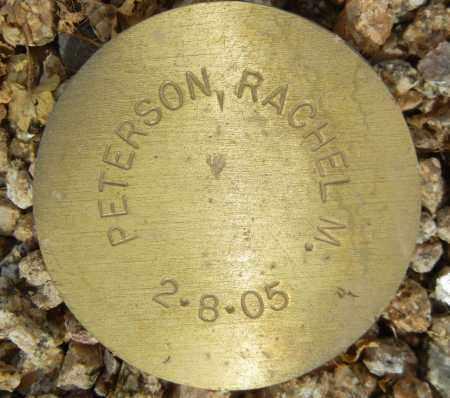 PETERSON, RACHEL M. - Maricopa County, Arizona   RACHEL M. PETERSON - Arizona Gravestone Photos