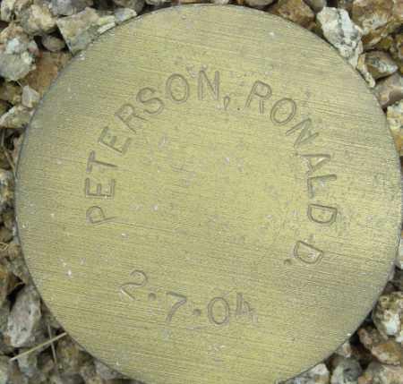 PETERSON, RONALD D. - Maricopa County, Arizona   RONALD D. PETERSON - Arizona Gravestone Photos