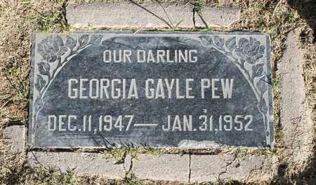PEW, GEORGIA GAYLE - Maricopa County, Arizona   GEORGIA GAYLE PEW - Arizona Gravestone Photos
