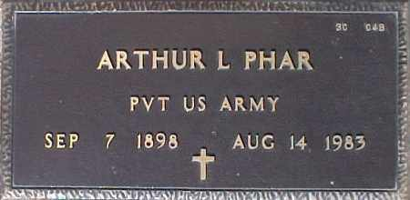 PHAR, ARTHUR L. - Maricopa County, Arizona | ARTHUR L. PHAR - Arizona Gravestone Photos
