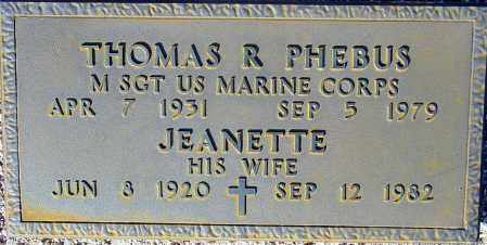 PHEBUS, JEANETTE - Maricopa County, Arizona | JEANETTE PHEBUS - Arizona Gravestone Photos