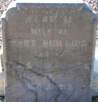 PHILLIPS, FLOY M. - Maricopa County, Arizona | FLOY M. PHILLIPS - Arizona Gravestone Photos