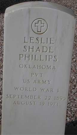 PHILLIPS, LESLIE SHADE - Maricopa County, Arizona | LESLIE SHADE PHILLIPS - Arizona Gravestone Photos