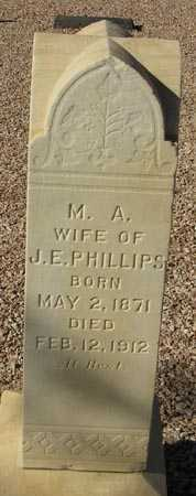 PHILLIPS, M.A. - Maricopa County, Arizona   M.A. PHILLIPS - Arizona Gravestone Photos