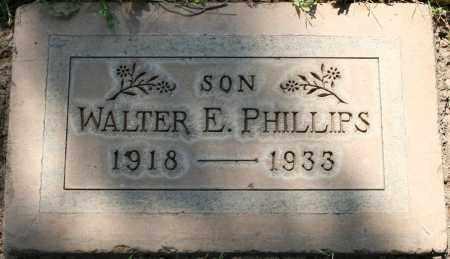 PHILLIPS, WALTER E - Maricopa County, Arizona | WALTER E PHILLIPS - Arizona Gravestone Photos