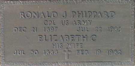 PHIPPARD, RONALD J. - Maricopa County, Arizona   RONALD J. PHIPPARD - Arizona Gravestone Photos