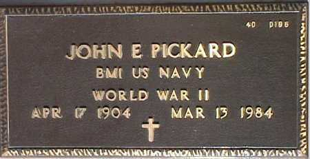 PICKARD, JOHN E. - Maricopa County, Arizona | JOHN E. PICKARD - Arizona Gravestone Photos