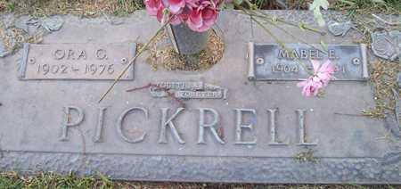PICKRELL, ORA G. - Maricopa County, Arizona | ORA G. PICKRELL - Arizona Gravestone Photos