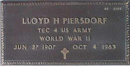 PIERSDORF, LLOYD H. - Maricopa County, Arizona | LLOYD H. PIERSDORF - Arizona Gravestone Photos