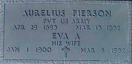 PIERSON, AURELIUS - Maricopa County, Arizona | AURELIUS PIERSON - Arizona Gravestone Photos