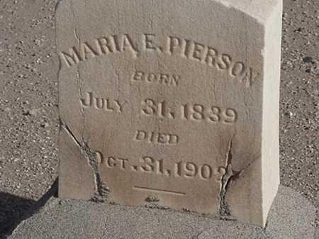 PIERSON, MARIA E - Maricopa County, Arizona   MARIA E PIERSON - Arizona Gravestone Photos