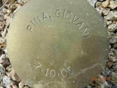PINA, GIOVANI - Maricopa County, Arizona   GIOVANI PINA - Arizona Gravestone Photos