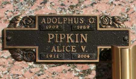 PIPKIN, ALICE V - Maricopa County, Arizona | ALICE V PIPKIN - Arizona Gravestone Photos