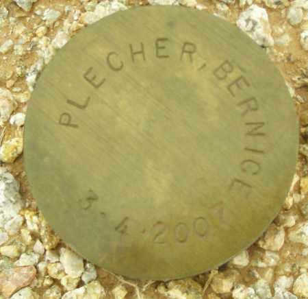 PLECHER, BERNICE - Maricopa County, Arizona   BERNICE PLECHER - Arizona Gravestone Photos