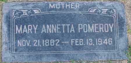 COLEMAN POMEROY, MARY ANNETTA - Maricopa County, Arizona | MARY ANNETTA COLEMAN POMEROY - Arizona Gravestone Photos