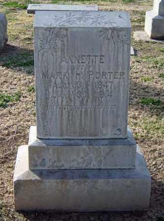 PORTER, ANNETTE - Maricopa County, Arizona | ANNETTE PORTER - Arizona Gravestone Photos