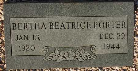PORTER, BERTHA BEATRICE - Maricopa County, Arizona   BERTHA BEATRICE PORTER - Arizona Gravestone Photos