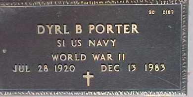 PORTER, DYRL B. - Maricopa County, Arizona | DYRL B. PORTER - Arizona Gravestone Photos