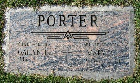 PORTER, MARY A - Maricopa County, Arizona | MARY A PORTER - Arizona Gravestone Photos