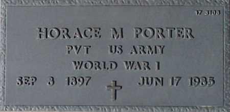 PORTER, HORACE M. - Maricopa County, Arizona   HORACE M. PORTER - Arizona Gravestone Photos