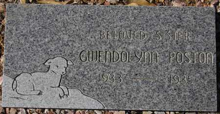 POSTON, GWENDOLYNN - Maricopa County, Arizona   GWENDOLYNN POSTON - Arizona Gravestone Photos