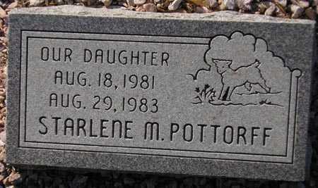 POTTORFF, STARLENE M. - Maricopa County, Arizona | STARLENE M. POTTORFF - Arizona Gravestone Photos
