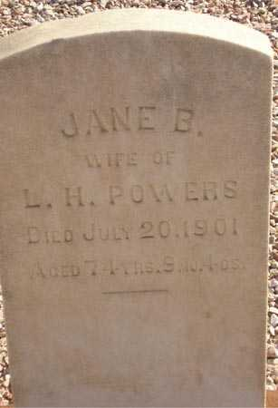 POWERS, JANE B. - Maricopa County, Arizona | JANE B. POWERS - Arizona Gravestone Photos