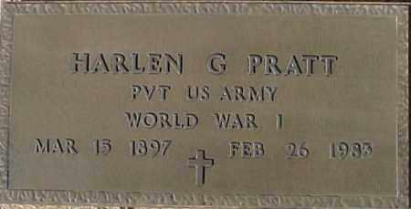 PRATT, HARLEN G - Maricopa County, Arizona   HARLEN G PRATT - Arizona Gravestone Photos