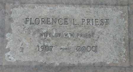 PRIEST, FLORENCE L. - Maricopa County, Arizona | FLORENCE L. PRIEST - Arizona Gravestone Photos
