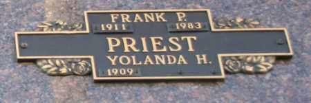PRIEST, YOLANDA H - Maricopa County, Arizona | YOLANDA H PRIEST - Arizona Gravestone Photos