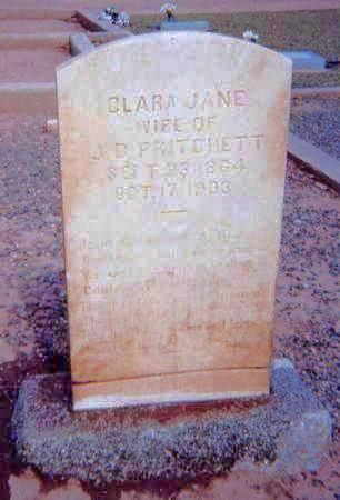 PRITCHETT, CLARA - Maricopa County, Arizona | CLARA PRITCHETT - Arizona Gravestone Photos