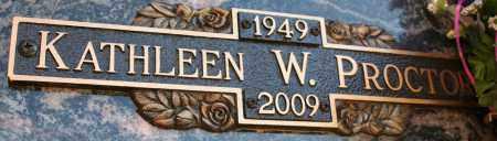 PROCTOR, KATHLEEN W - Maricopa County, Arizona   KATHLEEN W PROCTOR - Arizona Gravestone Photos