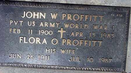 PROFFITT, JOHN W. - Maricopa County, Arizona | JOHN W. PROFFITT - Arizona Gravestone Photos
